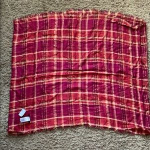 Flannel Print Infinity Scarf